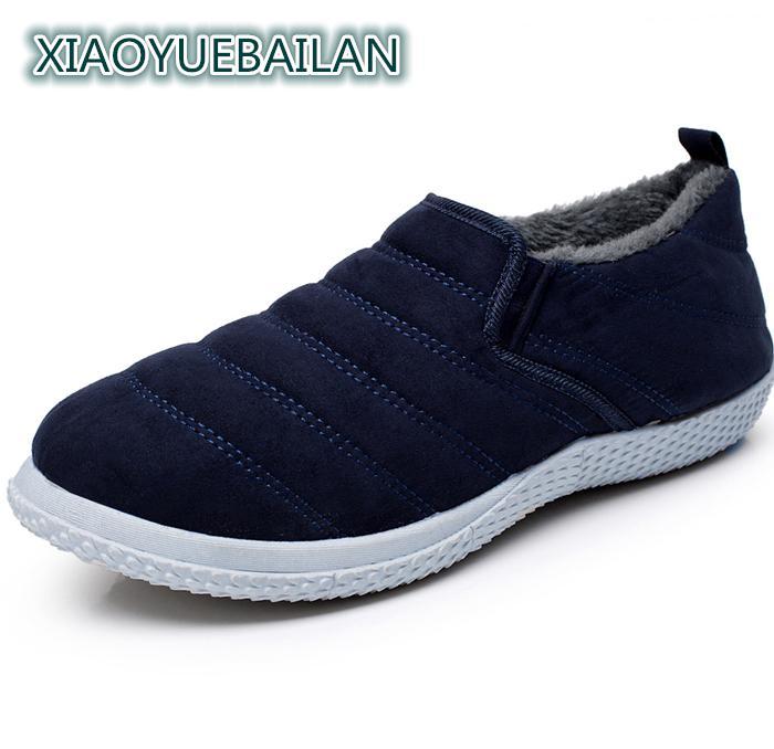 De gris Slip En Noir Occasionnels Chaud Hiver bleu Cachemire jaune Bottes Épaissie Vieux Mode Hommes Mâle Chaussures Et RjL54A
