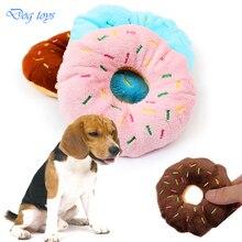 1 шт. собака, бросить игрушки avaton красивый прекрасный Собака Щенок Cat Squeaker Квак Звук игрушки, пончик Play игрушки для собак 11 см