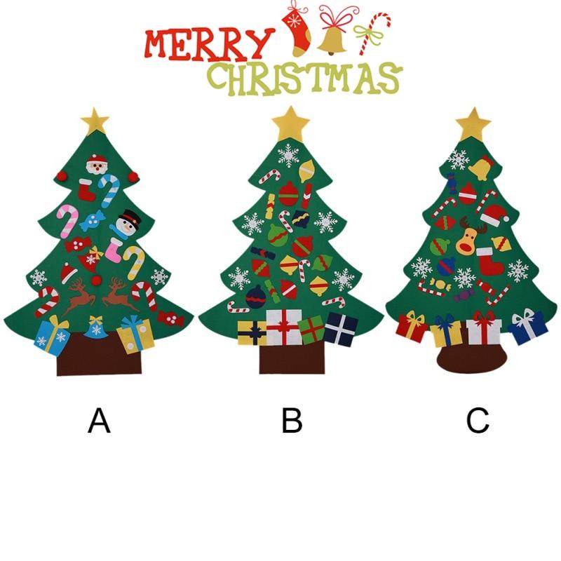 New Year Gifts Kids DIY Felt Christmas Tree Decorations ...