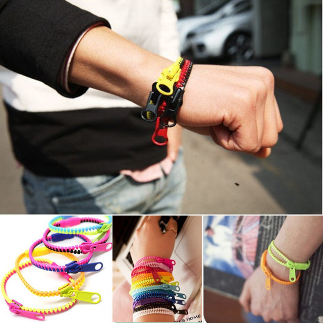 (2018) HOT Free Shipping New !! fluorescent color rainbow Levels personality zip