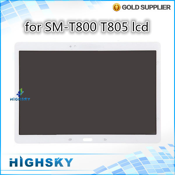 5 pcs/lot free shipping tested white replacement assembly for lcd Samsung galaxy tab s 10.1 t800 t805 display with touch
