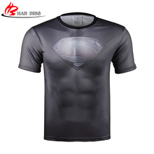 3 d T-shirt The Avengers Shirt Captain America T Shirt Tights Clothing Quick Dry Fit Men superman Short Sleeve printing T shirt