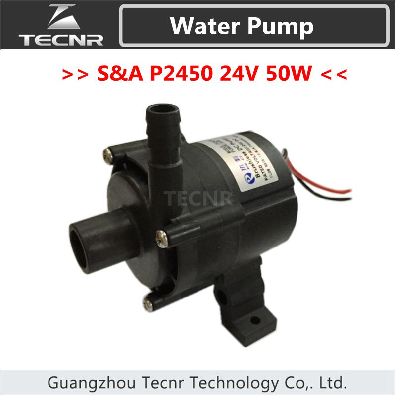 цены Brushless DC Pump P2450 24V voltage 50W watt 13/min 18PSI for S&A industrial Water Chiller CW5202AH