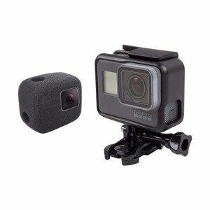 Image 5 - ORBMART Sponge Foam Cover Case Wind Noise Reduction Windshield Enhanced Audio Capture For Gopro Hero 5 6 7 8 Black Sport Camera