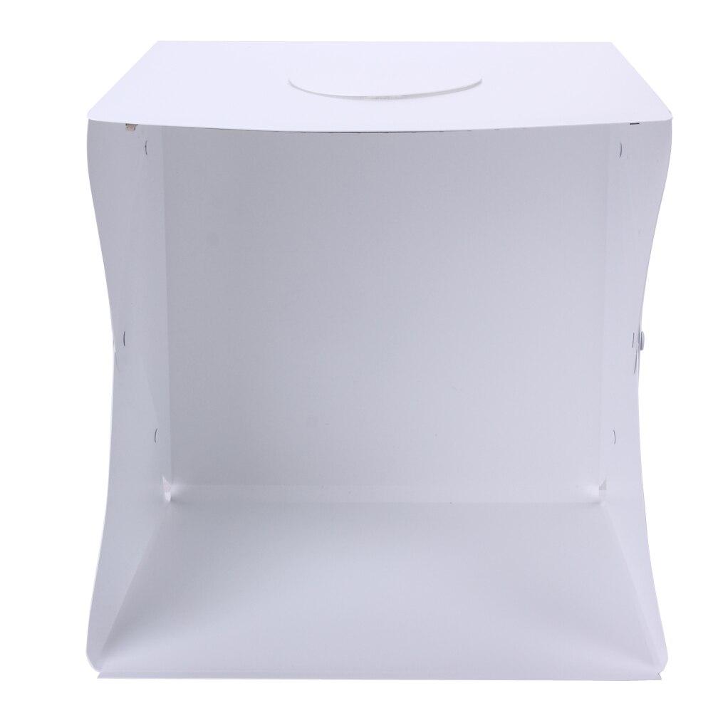 40cm Mini Portable Photo Studio Light Room Box LED Cube Table Top Shooting Photography Kits with LED Light with Backdrops Large fancier led portable shooting table kit