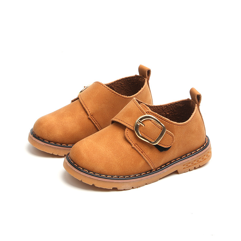 New 2018 Children Toddler Kids Baby Boys British Style Leather Shoes For Boys School Single Shoes 1 2 3 4 5 6 7 8 Years 25