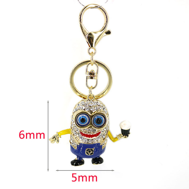 Fashion Charm Despicable Me Minions Crystal Keychain