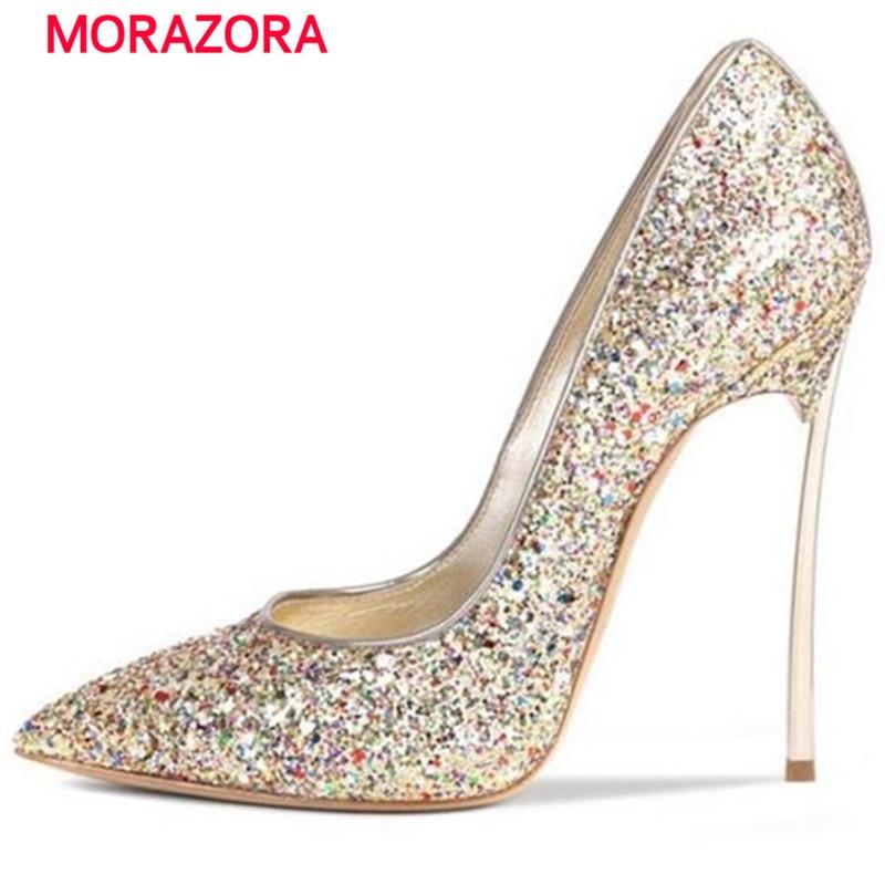 rojo Dentro Morazora Bombas Novia oro Zapatos 34 De Partido Otoño plata 43 Tamaño Genuino Negro Mujer Boda Heels Cuero Primavera Thin rHfrwq