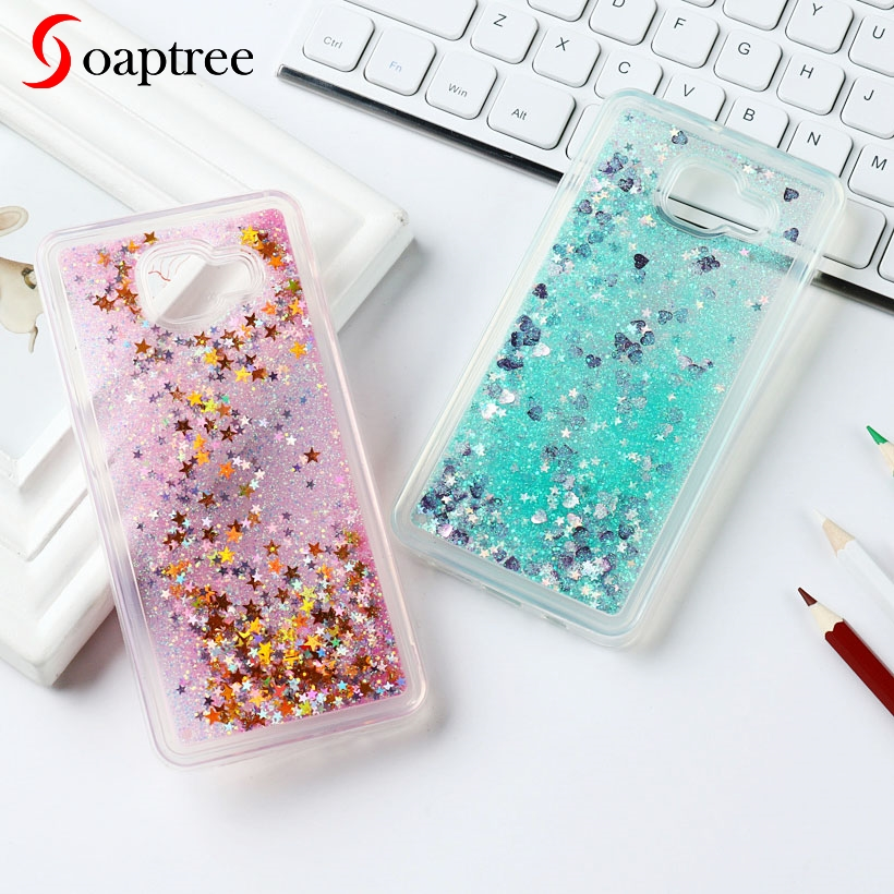 Glitter Liquid Cases For Samsung Galaxy S8 S7 S6 S5 Plus Edge Note 5 4 Case For Samsung A5 A3 J5 J7 Prime 2017 2016 2015 2014(China)