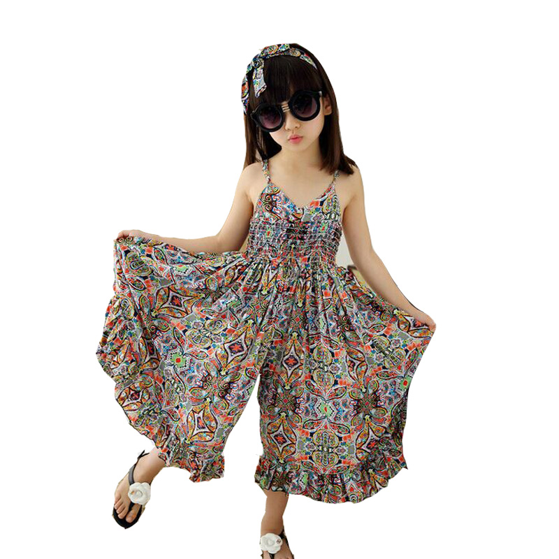 Girls Dresses 2018 Toddler Beach Dress Children Girls Summer Floral Bohemian Dress Princess Kids 5 10 15 years Girls Clothes long dress new fashion trend bohemian dress for girls beach tunic floral beach maxi dresses kids birthday party princess dresses