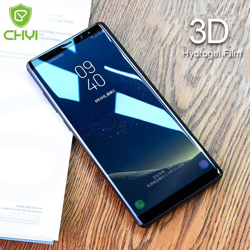 Mobile Phone Accessories Orderly Chyi 3d Curved Film For Samsung Galaxy Note 8 Screen Protector Note8 Nano Hydration Film Full Cover With Tool Not Tempered Glass Phone Screen Protectors
