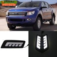 EeMrke Car LED DRL For Ford Ranger 2012 2013 2014 2015 High Power Xenon White Fog