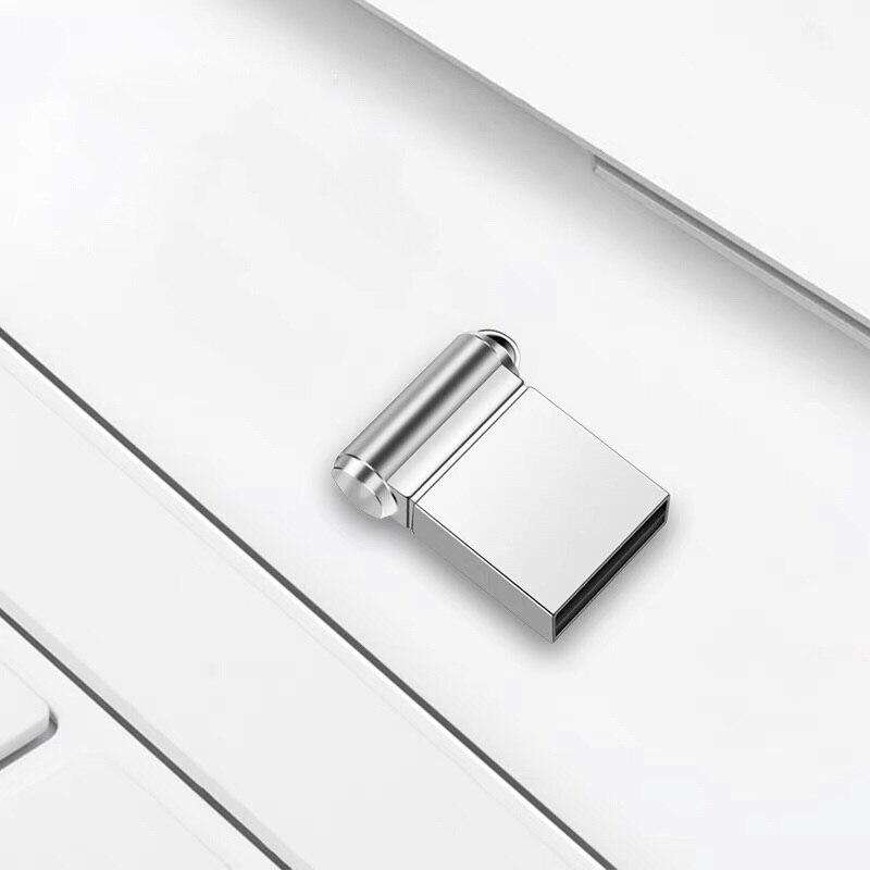 Silver Usb Flash Drive 32gb Super Mini Metal Pen Drive 16gb Usb 2.0 High Speed Pendrive 128gb 64gb 8gb Usb Stick 4gb Memoria Usb (3)