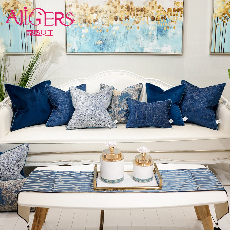 Blue Accent Pillows For Couch