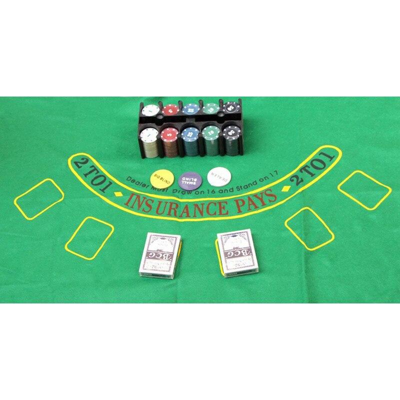 Super Deal 200 Texas Holdem Poker Set négociation jetons de Poker ensemble Blackjack Table tissu stores concessionnaire cartes de Poker K8356