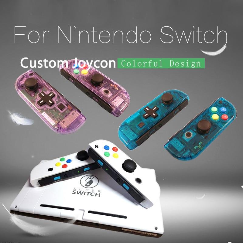 1 Pair New For Nintendo Switch Custom Joycons White Joy Con Controllers NS Switch Joy Con