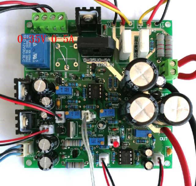 調整可能な DC-DC 安定化電源の Diy キット 0-35 ボルト 0-5A