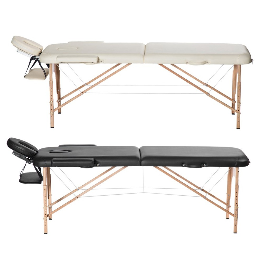 Portable Two-Folding Massage Bed Professional Comfortable SPA Therapy Tattoo Beauty Salo ...