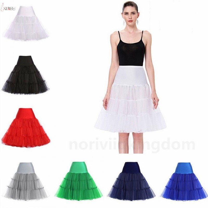 Retro Underskirt Short Bridal Wedding Petticoat Crinoline Woman Tulle Tutu Skirt Wedding Accessories Jupon Mariage