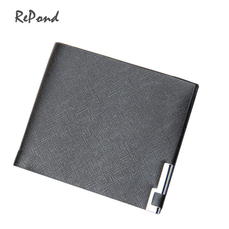 Casual High Quality Cowhide+PU Leather Slim Wallet Fashion Male Short Design Solid Color Money Clips Dollar Purse moana maui high quality pu short wallet purse with button