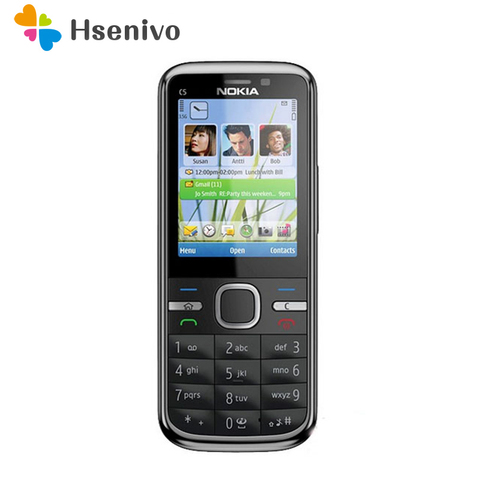 C5 Nokia C5-00 Original Unlocked mobile phone 3MP/5MP Camera 3G GPS Bluetooth FM C5-00 cell phone Cheap Phone Frees hipping Pakistan