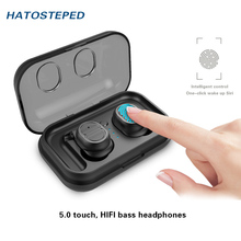 Movement Capsule TWS Wireless Earbuds V5.0 Bluetooth Earphone Headset Deep Bass Stereo Sound Sport Earphone For Samsung Iphone anomoibuds capsule wireless tws earbuds v5 0 bluetooth earphone headset deep bass stereo sound sport earphone for samsung iphone