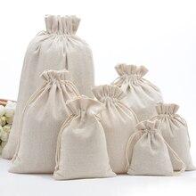09bfee754 Bolsas de regalo de embalaje de cordón de algodón de muselina hechas a mano para  bolsas de joyería de granos de café bolsas de a.