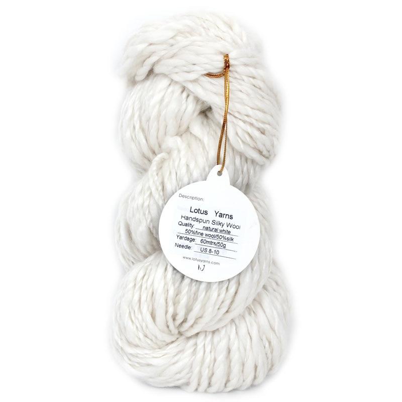 1 * 50 г Хэнк Handspun Chunky Silk Шерстяная пряжа Handspun 50% шелк 50% мериносовой пряжи