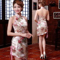 Sexy neck hung ms club dress cultivate one's morality fashion summer wear qipao improved cheongsam