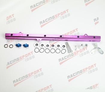 Apto para Toyota 2JZ Billet Efi Kits de riel de combustible juego de inyectores de 11mm púrpura