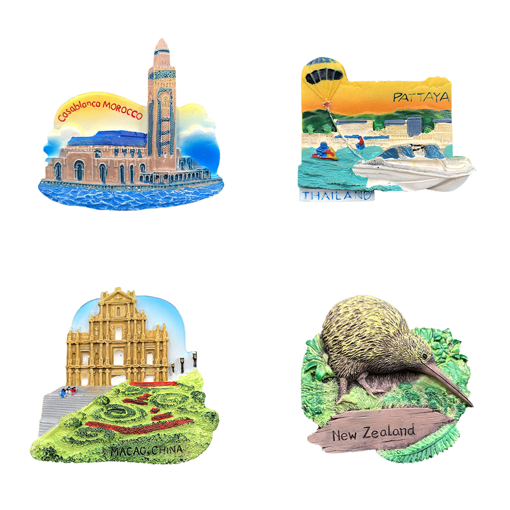Handmade 3D Resin Macao Pattaya Travel <font><b>Souvenirs</b></font> Creative Refrigerator Magnetic Stickers Home Decoration <font><b>New</b></font> <font><b>Zealand</b></font> image
