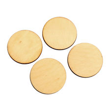 50pcs Natural Round 40mm Wood Craft Embellishments MDF Wooden Cutout Flatback Scrapbooking for Cardmaking DIY Wedding Decoration(China)