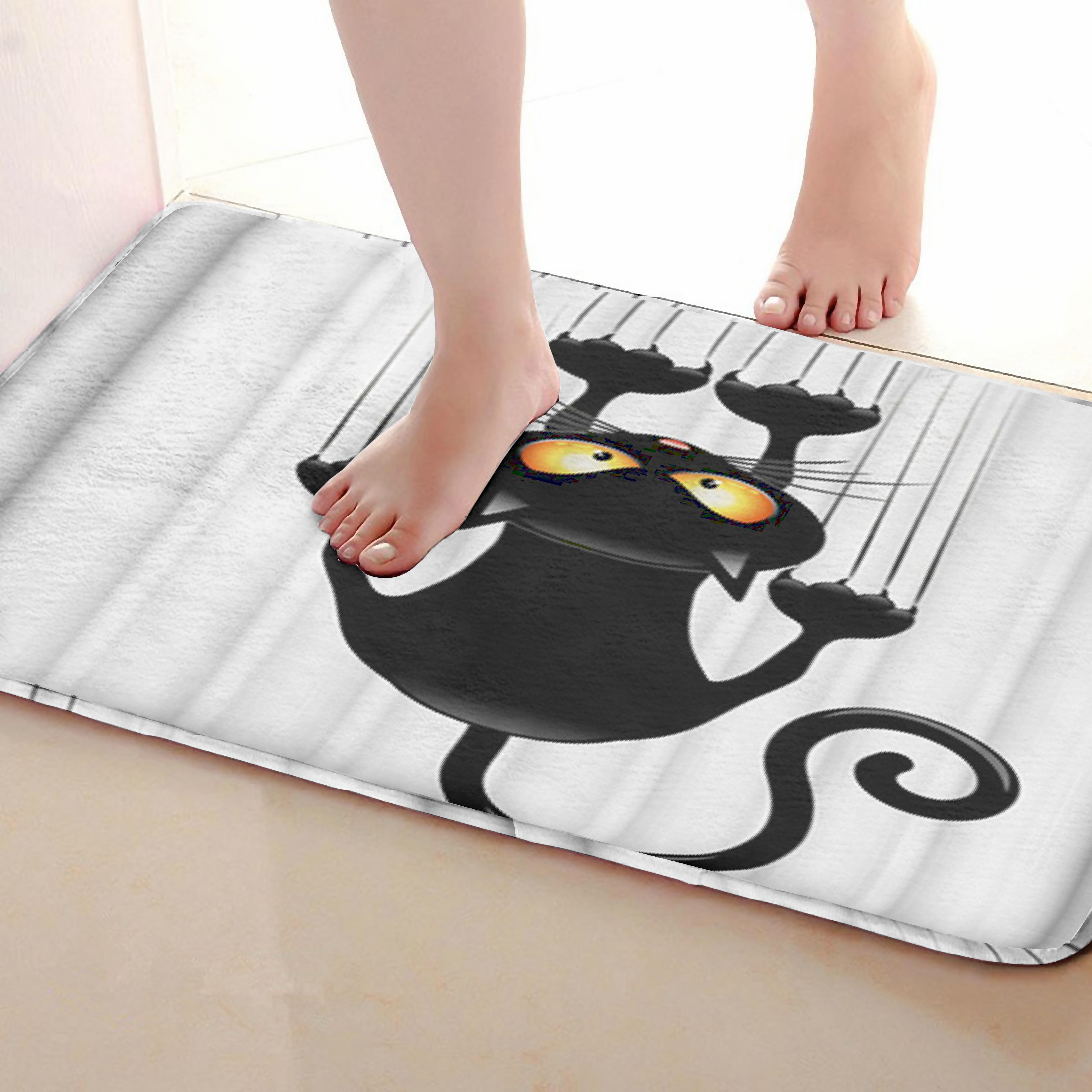 Cat Style Bathroom Mat,Funny Anti skid Bath Mat,Shower Curtains Accessories,Matching Your Shower Curtain