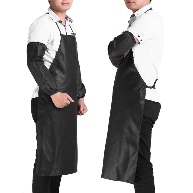 Kitchen Waterproof Leather Aprons