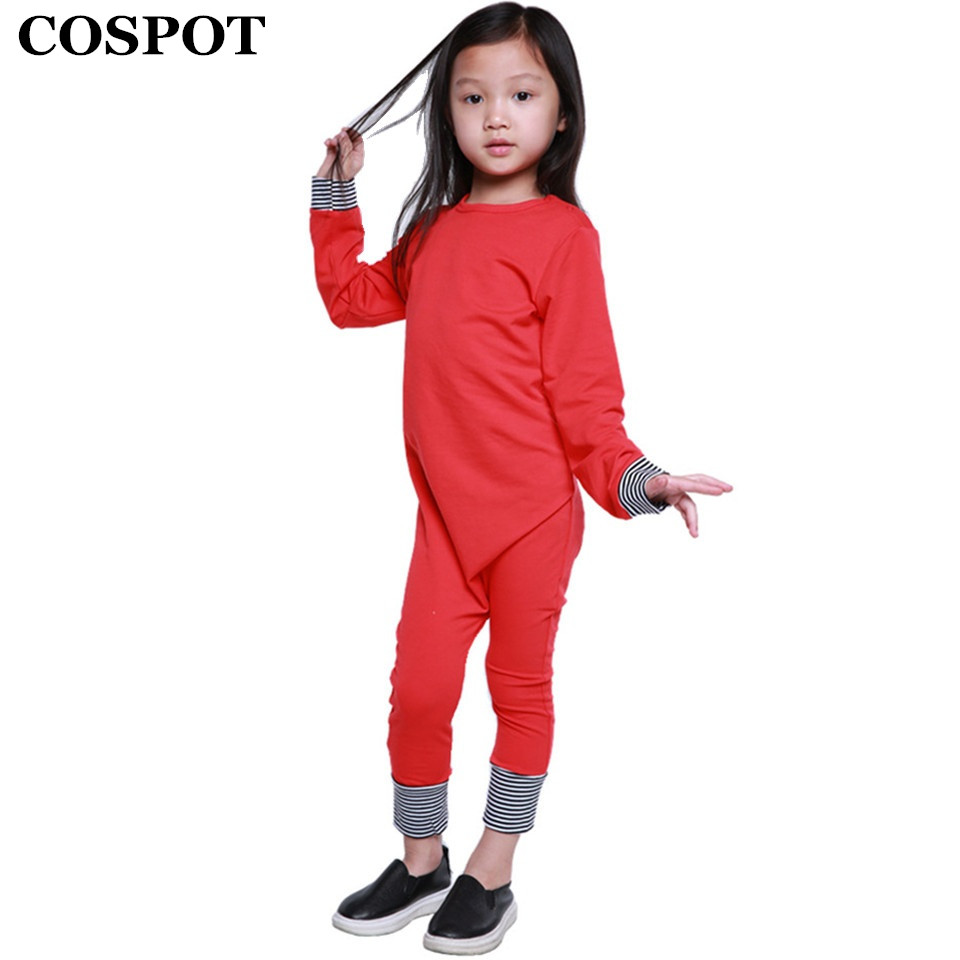 COSPOT Baby Boys Girls Christmas Romper Newborn Autumn Winter Pajamas Toddler Kids Plain Red Black Jumpsuit Infant Jumper E25 puseky 2017 infant romper baby boys girls jumpsuit newborn bebe clothing hooded toddler baby clothes cute panda romper costumes