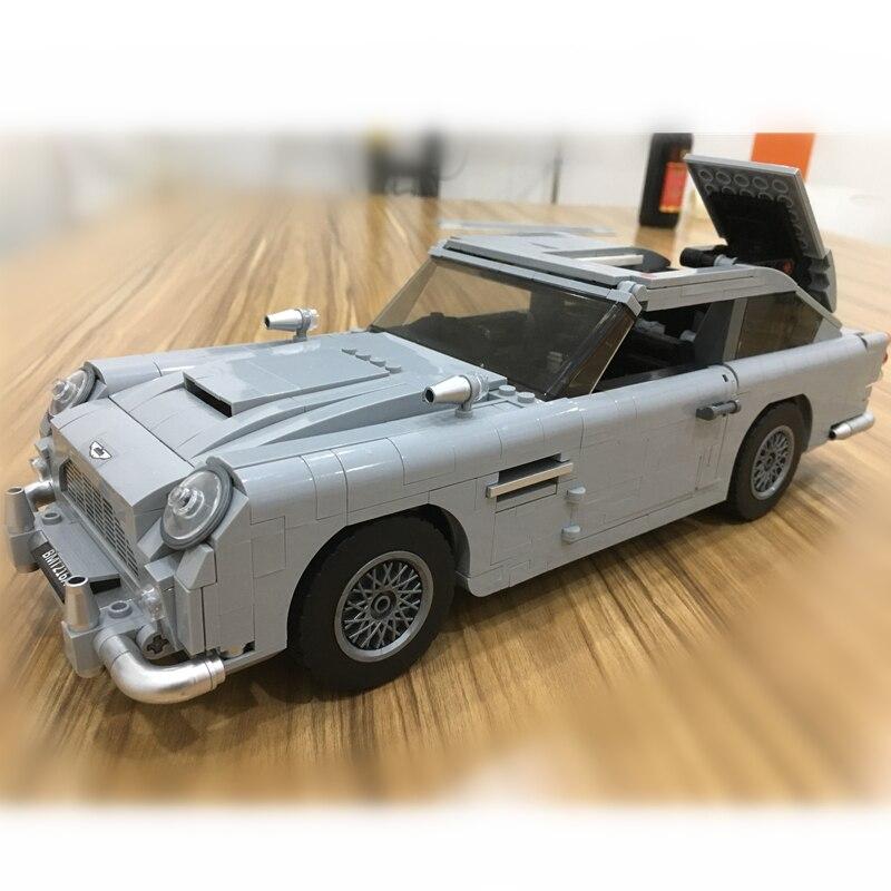 Создатель техника Джеймс Бонд Aston Martin DB5 строительные блоки комплект Наборы кубиков классический 007 Модель автомобиля игрушки Совместимост...