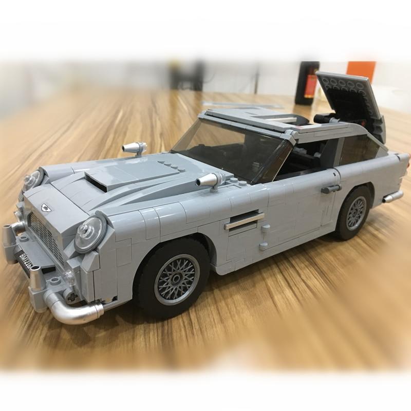 Creator Technik James Bond Aston Martin DB5 Bausteine Kit Ziegel Sets Klassische 007 Modell Spielzeug Kompatibel Legoings 21046 Auto