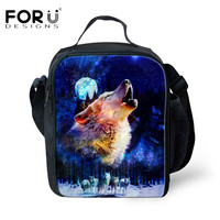 FORUDESIGS Portable Insulated Lunch Bag 3D Animal Child Food Fresh Keep Lunch Bags Waterproof Thicken Lancheira