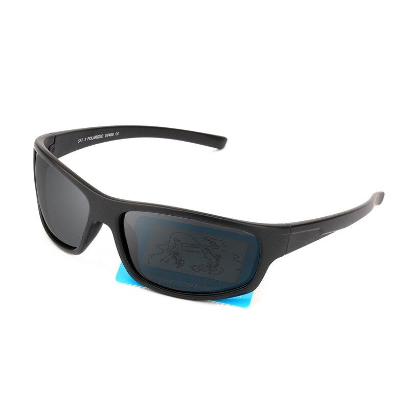JIANGTUN, спортивные солнцезащитные очки, поляризационные, для мужчин и женщин, фирменный дизайн, для вождения, рыбалки, Полароид, солнцезащитные очки, черная оправа, Oculos De Sol - Цвет линз: Black l Gray