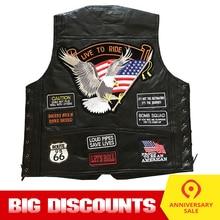 Motorcycle Jacket Motos Biker Ceket Genuine Leather Vest Mens Chaqueta Motoqueiro Punk Retro Jaqueta Casual Moto Vest Clothing