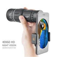 40x60 Powerful HD Binoculars Night Vision High Quality Zoom Monocular Camping Mountain Outdoor Hunting waterproof Telescope A