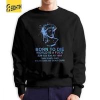 Vaporwave Born To Die Man Sweatshirts Cool Cotton Crewneck Pullover Printed Hoodies for Men