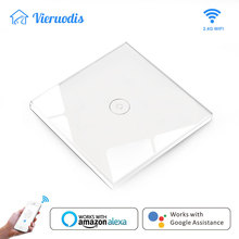 EU/UK Wifi Smart Wall Switch Touch Glass Panel Mobile tuya& smart life APP Remote Control work with Amazon Alexa Google Home hot все цены