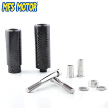 Freeshipping motorcycle No Cut Frame Slider Crash Protector For Yamaha FJR1300 FJR 1300 2006-2011 Carbon