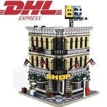 LELE 30004 2182 Unids Ciudad Figuras de la Calle Gran Emporio Kits de Edificio Modelo Bloques Ladrillos Juguetes Para Niños Compatibles Con 10211
