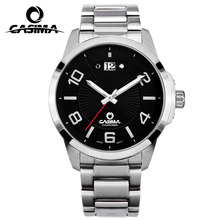 CASIMA Sports Men's Chronograph Pilots Wrist Watches Black Steel Watchband Top Luxury Brand Males Quartz Clock Man Wristwatch