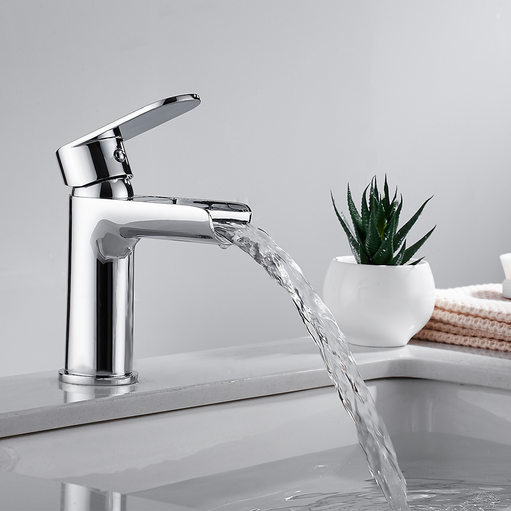 Bathroom Basin Faucet Waterfall Faucet Classic Hot Water Vessel Sink Mixer Tap Hot Cold Faucet Kitchen Bathroom Sink Faucet