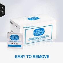 2017 Nail Remover 100 шт./лот Дизайн ногтей гель лак легко Очиститель гель Nail Обертывания uv гель для удаления Дизайн ногтей Инструменты