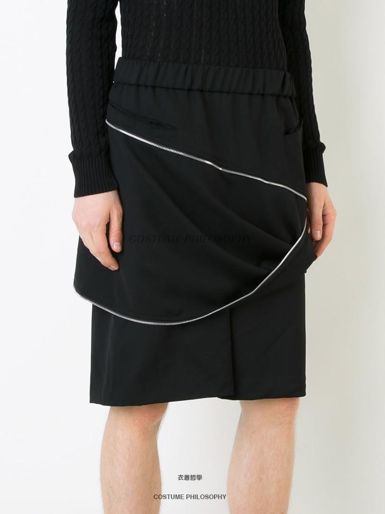Tamaño Negro Pantalones Hombres Traje Gd Ropa Pasarela Cremallera Moda 44 Casual Disfraces Original 2018 Plus De Estilista 27 Pelo Irregular gZ6TH6