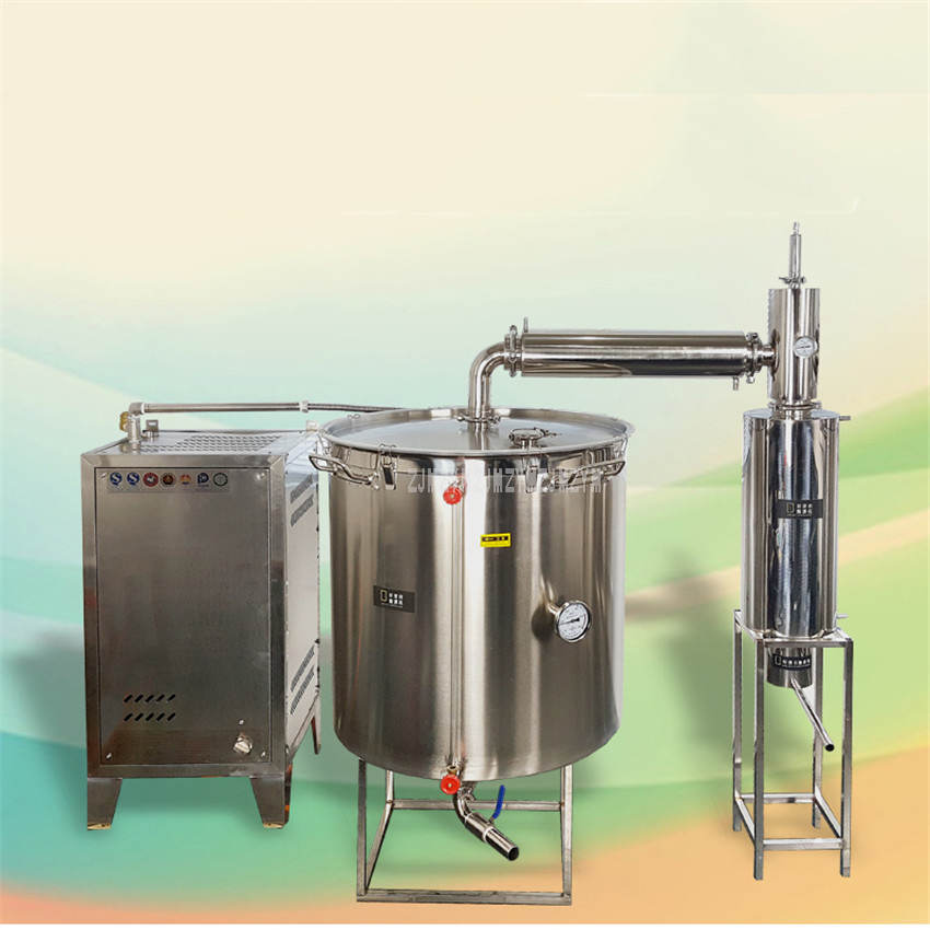 400L Double Cooler Large Wine Brewing Equipment With Steam Generator Liquor Distillation Commercial Wine Making Machine 1